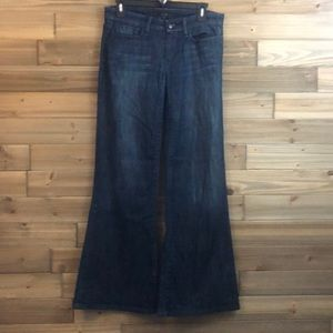 Joe's provocateur wide leg dark wash jeans size 28